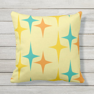 Nifty fifties - large triple starburst pillow