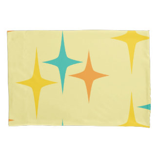 Nifty fifties - large triple starburst pillow case pillowcase