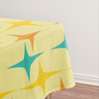 Nifty fifties - large triple starburst table cloth