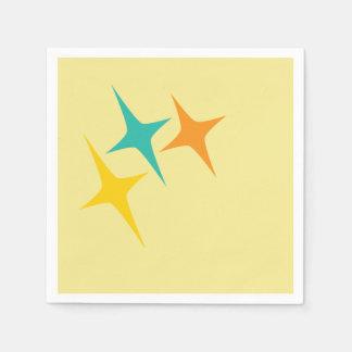 Nifty fifties - triple starburst napkin paper napkin