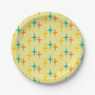 Nifty fifties - triple starburst paper plate