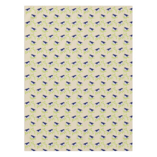 Nifty fifties - two blue birds table cloth