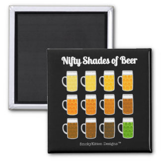Nifty Shades of Beer (Hues/Colors of Beers) Magnet