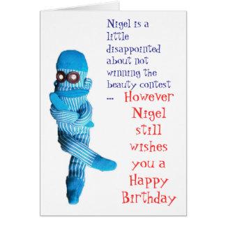 Nigel était déçu… carte de vœux