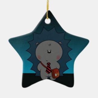 nigel le hérisson ornement étoile en céramique