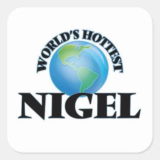 Nigel le plus chaud du monde autocollant carré
