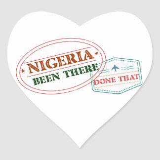 Nigeria Been There Done That Heart Sticker