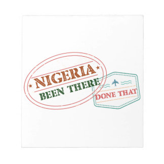Nigeria Been There Done That Notepad