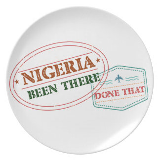 Nigeria Been There Done That Plate