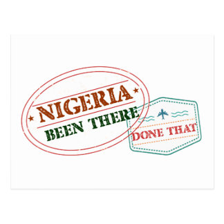Nigeria Been There Done That Postcard