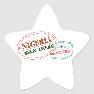 Nigeria Been There Done That Star Sticker
