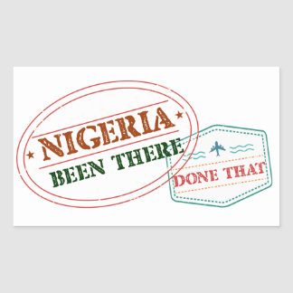 Nigeria Been There Done That Sticker