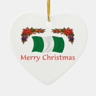 Nigeria Christms Ceramic Ornament