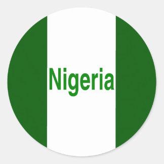 Nigeria Classic Round Sticker