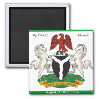 Nigeria_coa, Nigeria  West Africa,... - Customized Magnet