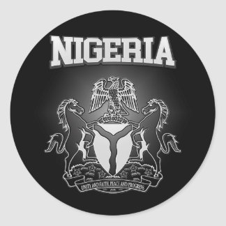 Nigeria Coat of Arms Classic Round Sticker