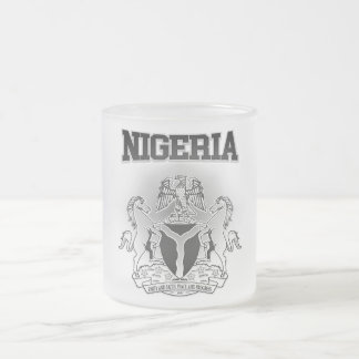 Nigeria Coat of Arms Frosted Glass Coffee Mug