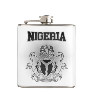 Nigeria Coat of Arms Hip Flask