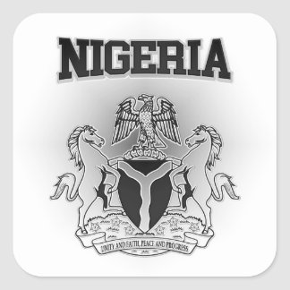 Nigeria Coat of Arms Square Sticker