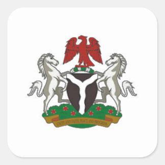 Nigeria Coat of Arms Square Sticker