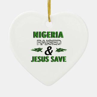 Nigeria design ceramic ornament