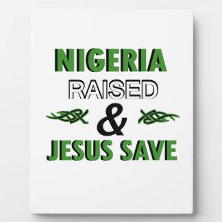 Nigeria design plaque