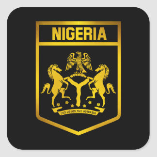 Nigeria Emblem Square Sticker