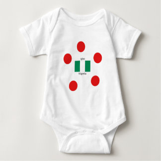 Nigeria Flag And Igbo Language Design Baby Bodysuit