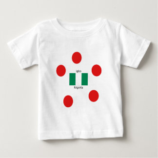 Nigeria Flag And Igbo Language Design Baby T-Shirt
