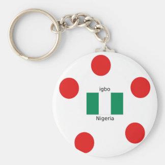 Nigeria Flag And Igbo Language Design Keychain