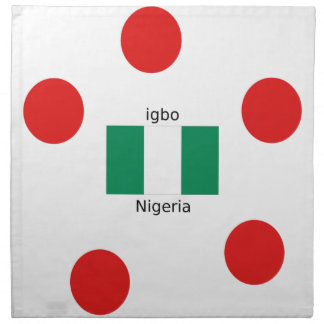 Nigeria Flag And Igbo Language Design Napkin