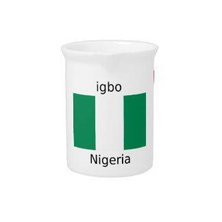 Nigeria Flag And Igbo Language Design Pitcher