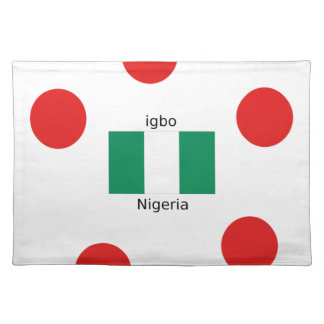Nigeria Flag And Igbo Language Design Placemat
