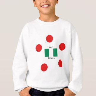 Nigeria Flag And Igbo Language Design Sweatshirt
