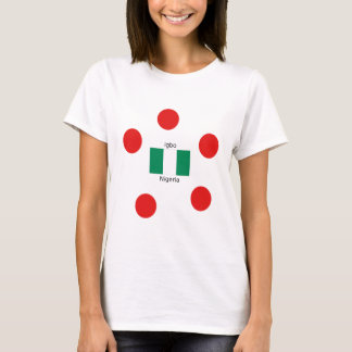 Nigeria Flag And Igbo Language Design T-Shirt