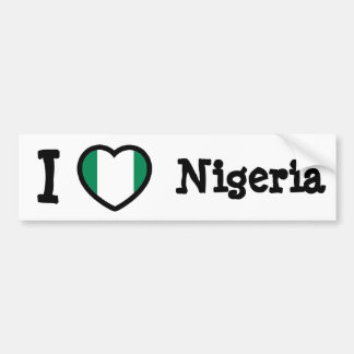 Nigeria flag bumper sticker