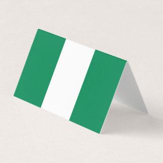 Nigeria Flag Business Card