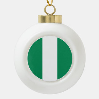 Nigeria Flag Ceramic Ball Christmas Ornament