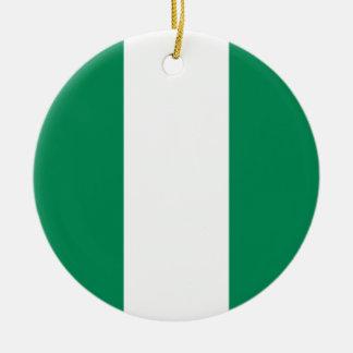 Nigeria Flag Ceramic Ornament