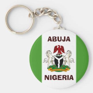 nigeria flag copy, Nigeria_coa, NIGERIA, ABUJA Keychain