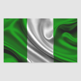 Nigeria Flag Fabric Sticker