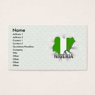 Nigeria Flag Map 2.0 Business Card