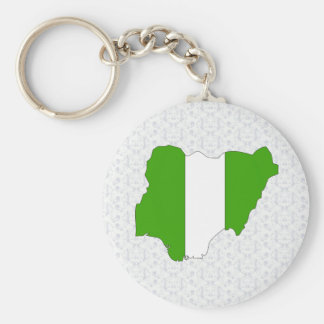 Nigeria Flag Map full size Keychain