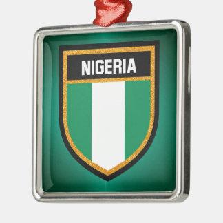 Nigeria Flag Metal Ornament