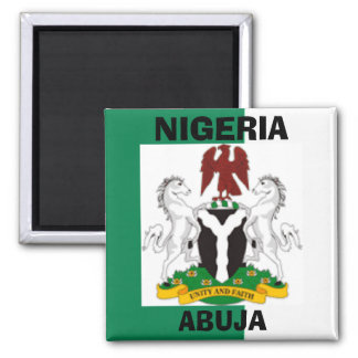Nigeria Flag, Nigeriaarms21, ABUJA , NIGERIA Magnet