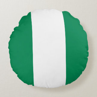 Nigeria Flag Round Pillow