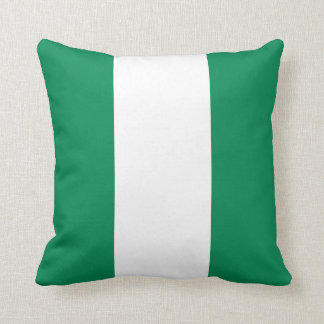 Nigeria Flag Throw Pillow