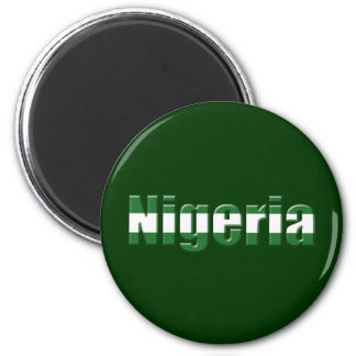 Nigeria Logo in the colors of the Nigerian flag Magnet