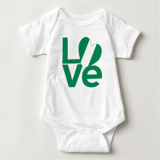 Nigeria LOVE Green Baby Bodysuit