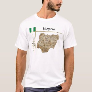 Nigeria Map + Flag + Title T-Shirt